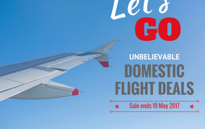 GREAT SPECIALS ON DOMESTIC FLIGHTS