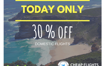 TODAY ONLY 30% off domestic flights with kulula.com